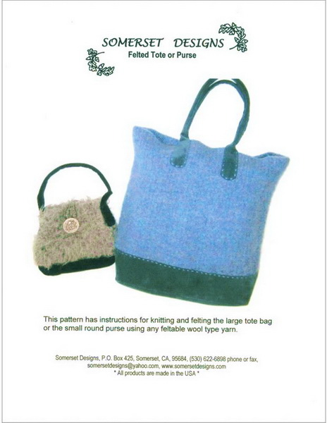 Felted Tote And Purse