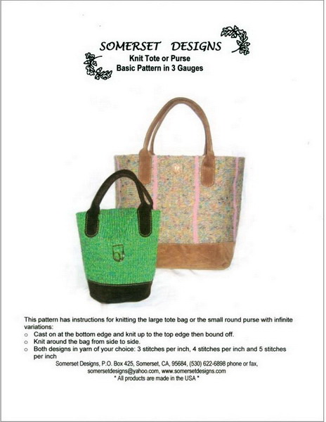 Knit Tote And Purse