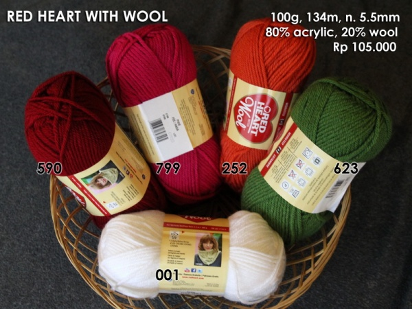 Red Heart With Wool