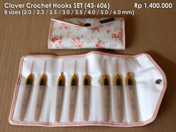 Clover Crochet Hooks SET (43-606)