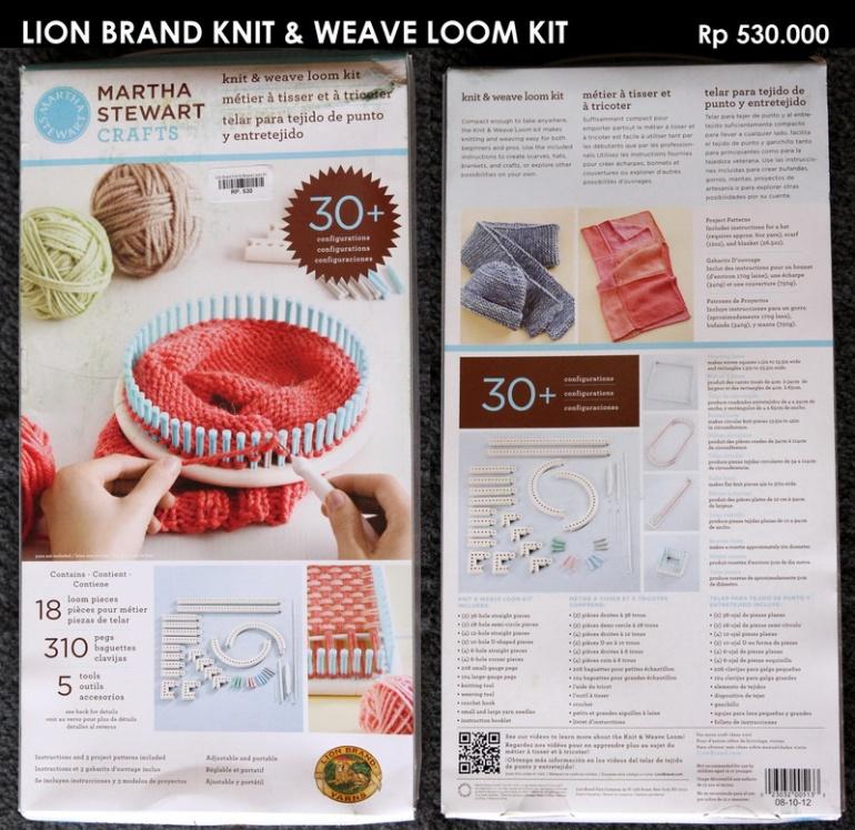 Lion Brand Knit & Weave Loom Kit