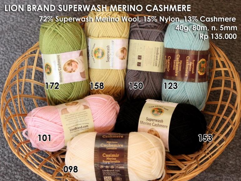 Lion Brand Superwash Merino Cashmere (40g)