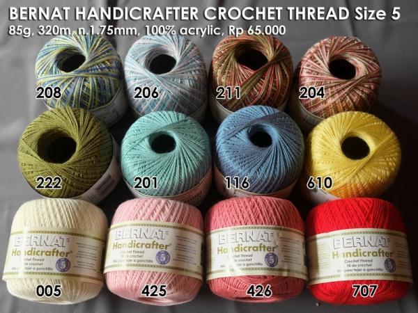 Bernat Handicrafter Crochet Thread Size 5 (85g)