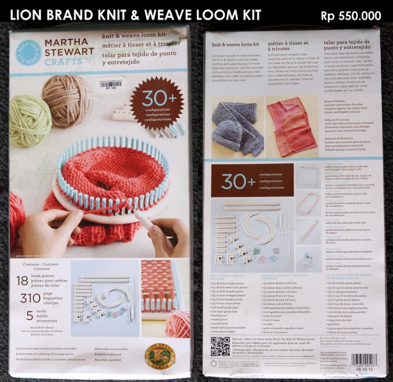 Lion Brand Knit & Weave Loom Kit