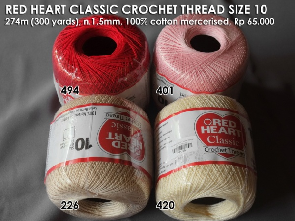 Red Heart Classic Crochet Thread Size 10 (350yds)