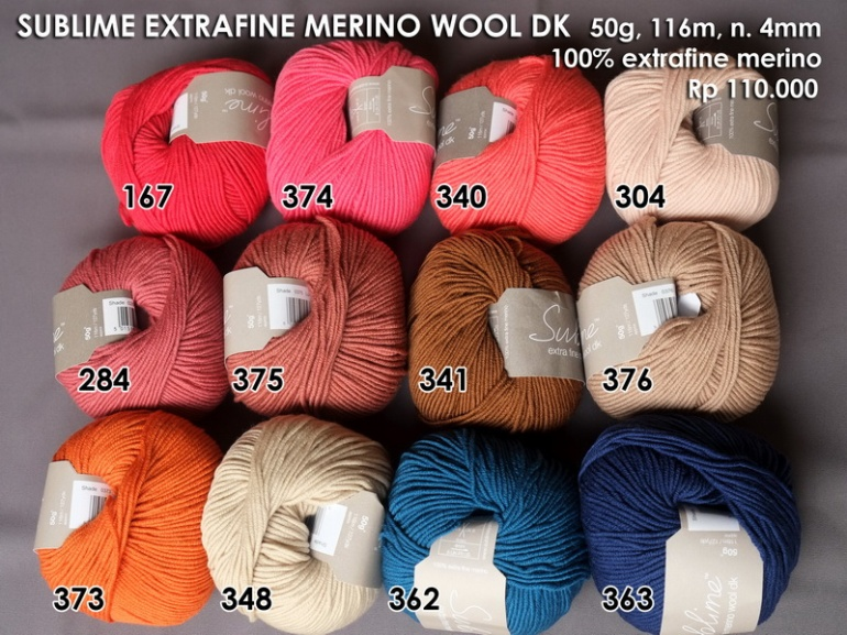 Sublime Extra Fine Merino Wool DK