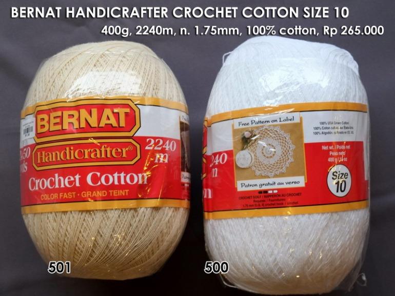 Bernat Handicrafter Crochet Cotton Size 10 - 400g