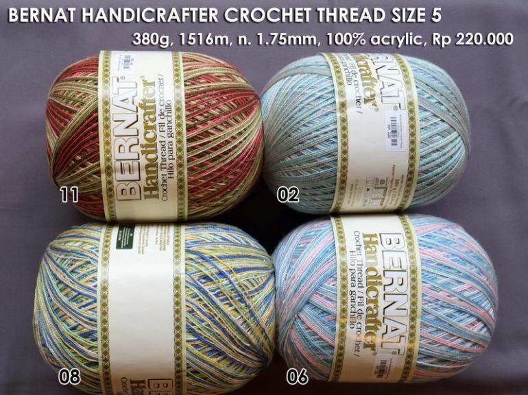 Bernat Handicrafter Crochet Thread Size 5 - 380g