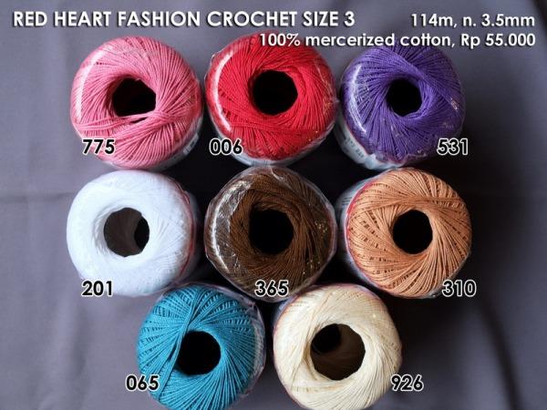 Red Heart Fashion Crochet Thread Size 3