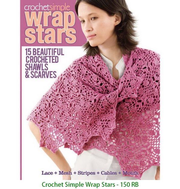 Crochet Simple Wrap Stars - 150 RB