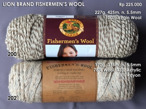 Lion Brand Fishermen's Wool 227g