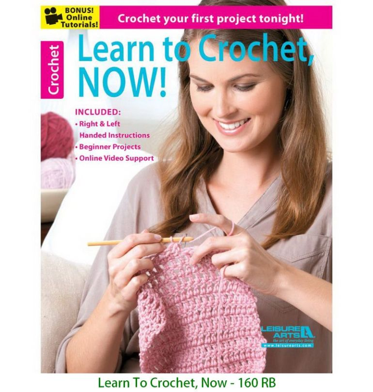 Learn To Crochet, Now - 160 RB