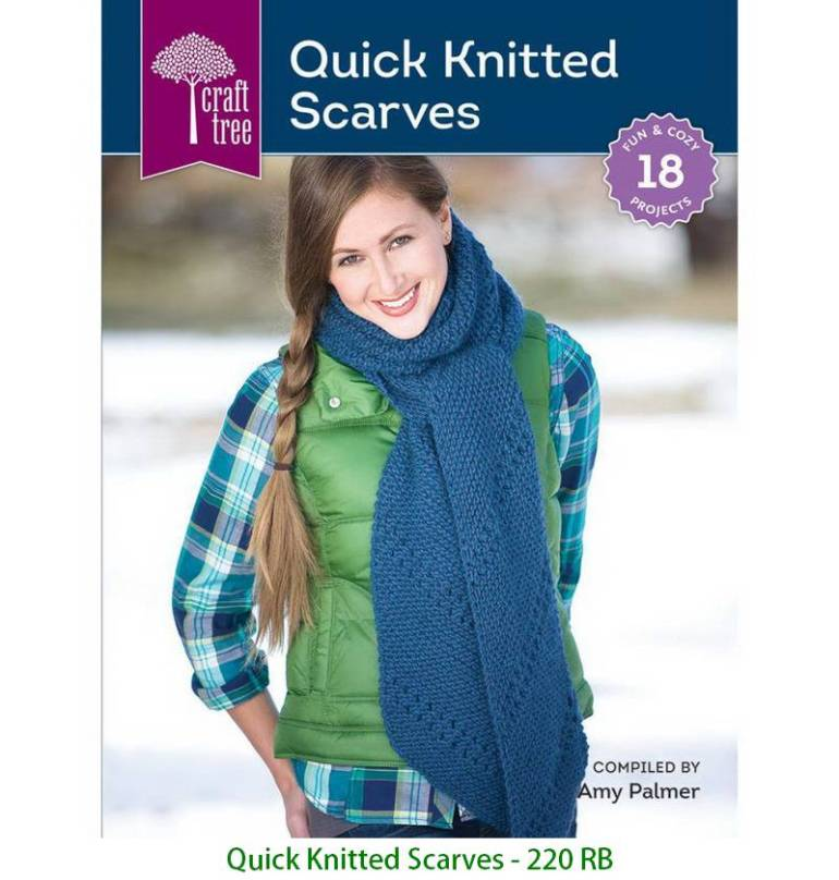 Quick Knitted Scarves - 220 RB