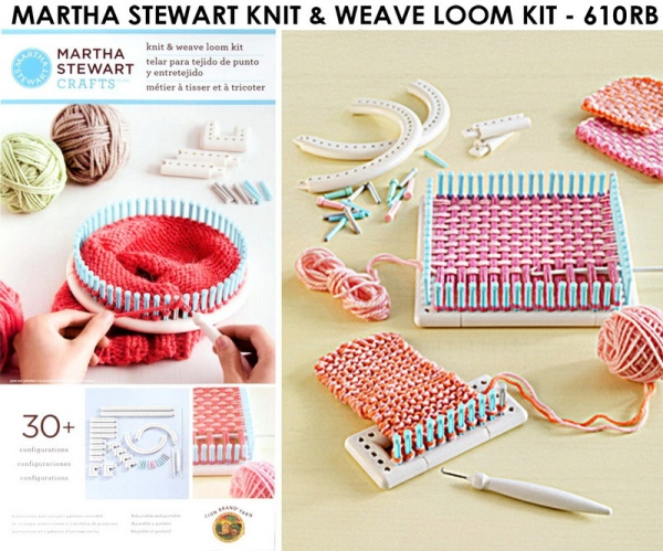 Red Heart Free Patterns Knitting : Martha stewart crafts knit and weave loom kit