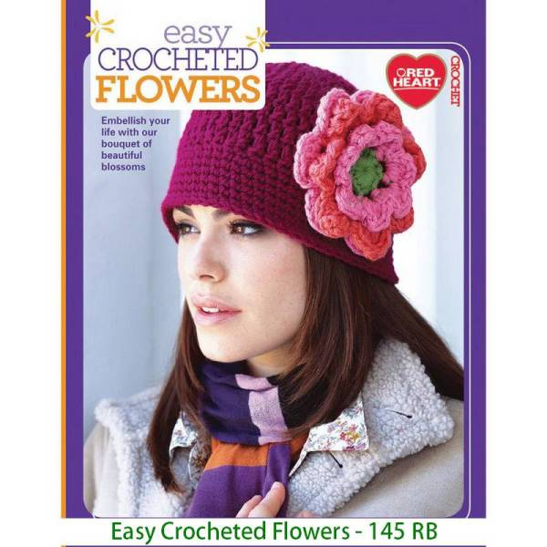 Easy Crocheted Flowers - 145 RB