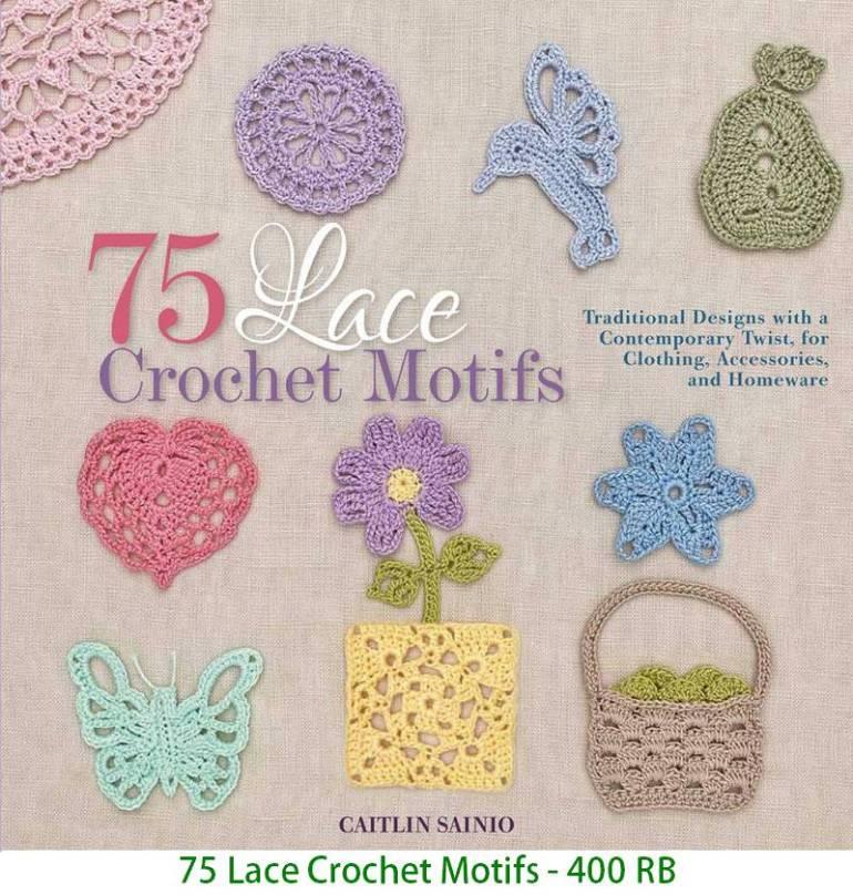 75 Lace Crochet Motifs - 400 RB