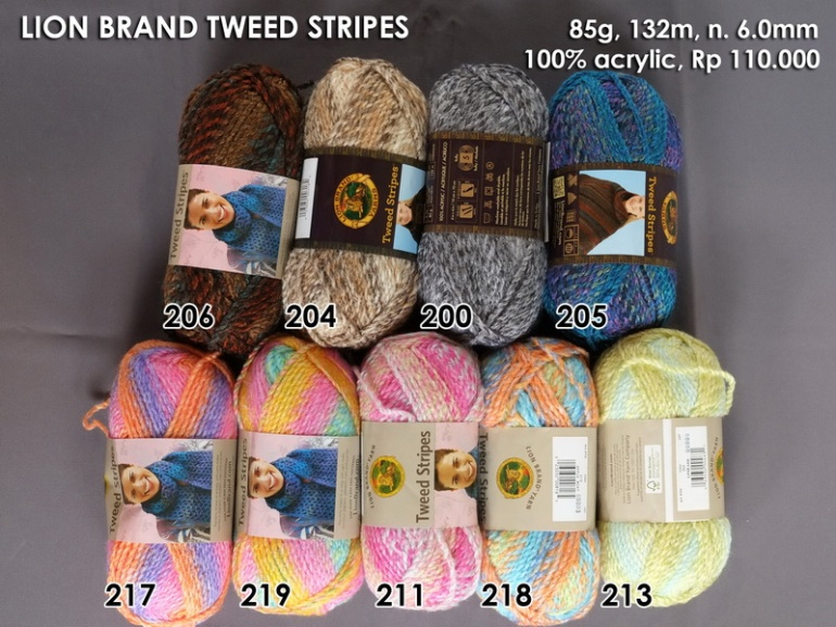 Lion Brand Tweed Stripes