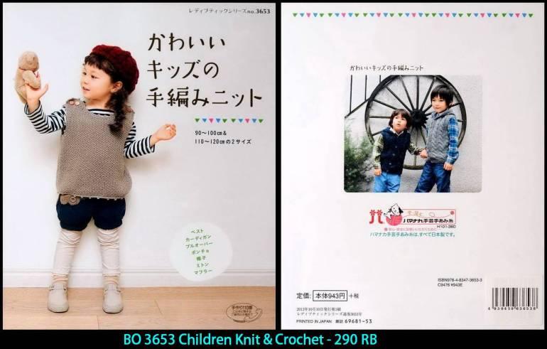 BO 3653 Children Knit & Crochet - 290 RB