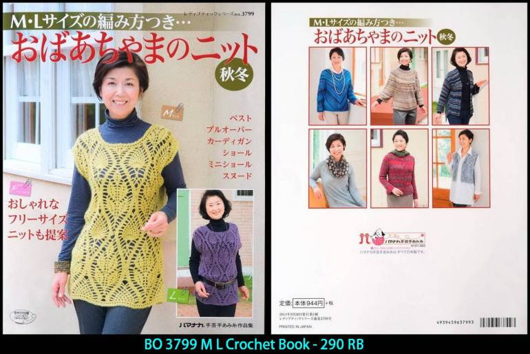 BO 3799 M L Crochet Book - 290 RB