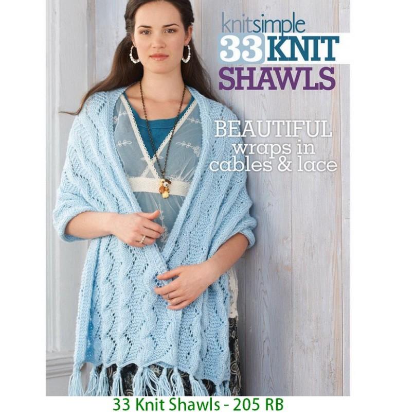 33 Knit Shawls - 205 RB
