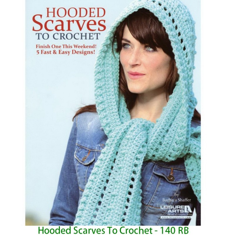 Hooded Scarves To Crochet - 140 RB