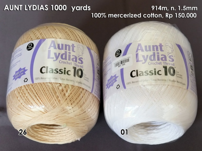Aunt Lydias Crochet 1000 yards