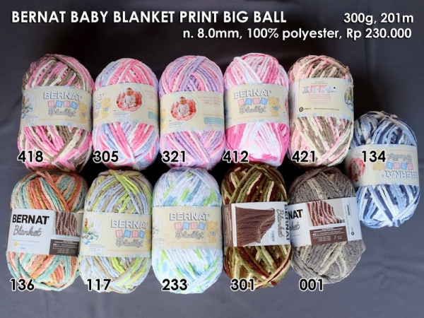 Bernat Baby Blanket Print Big Ball