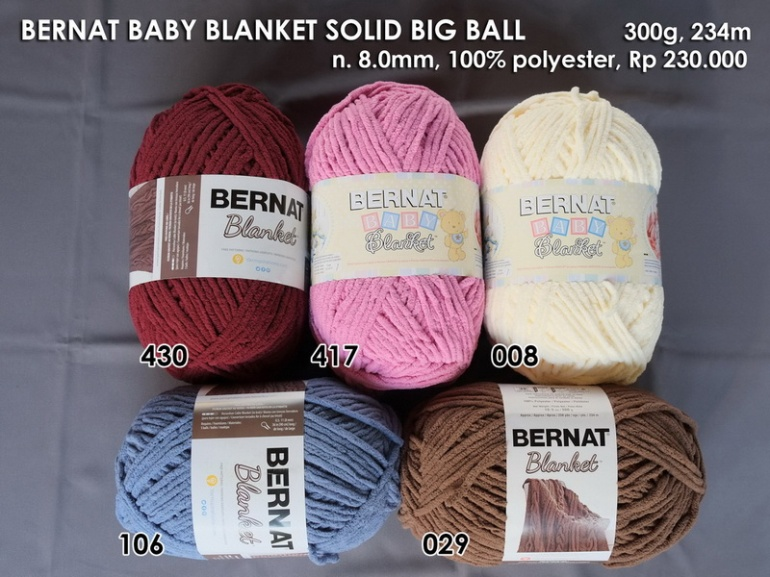Bernat Baby Blanket Solid Big Ball
