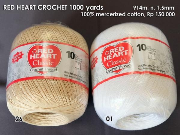 Red Heart Crochet 1000 yard