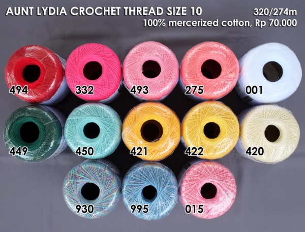 Aunt Lydia Crochet Thread Size 10