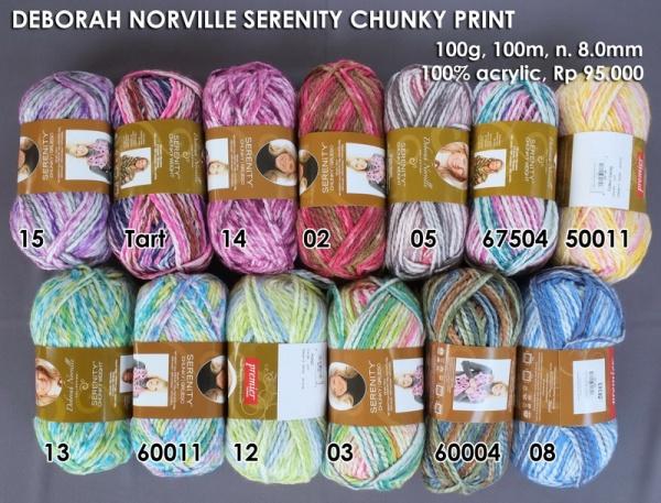 Deborah Norville Serenity Chunky Print
