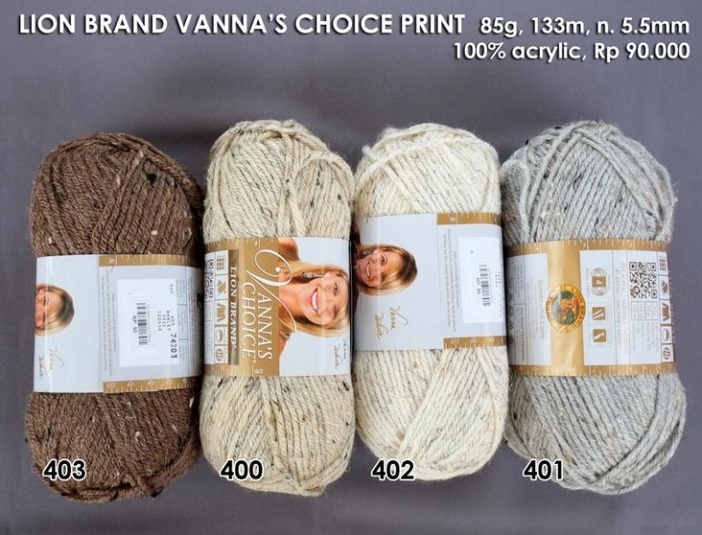 Lion Brand Vannas Choice Print