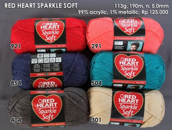 Red Heart Sparkle Soft