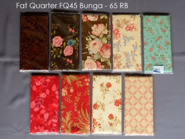 Fat Quarter FQ45 Bunga - 65 RB