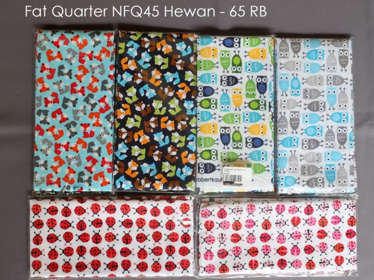 Fat Quarter NFQ45 Hewan - 65 RB