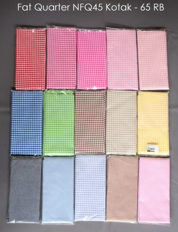 Fat Quarter NFQ45 Kotak - 65 RB