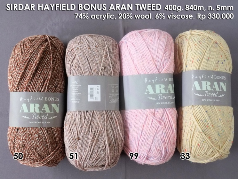Sirdar Hayfield Bonus Aran Tweed