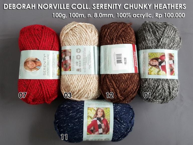 Deborah Norville Coll Serenity Chunky Heathers