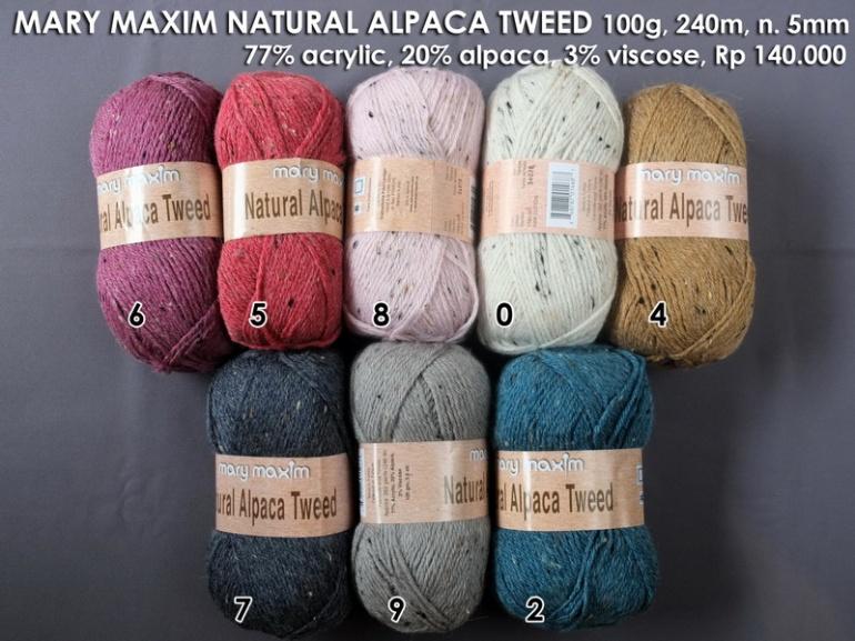 Mary Maxim Natural Alpaca Tweed
