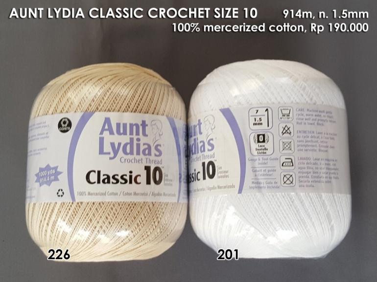 Aunt Lydia Classic Crochet Size 10