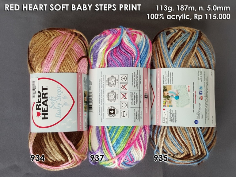 Red Heart Soft Baby Steps Print