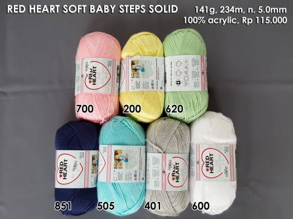 Red Heart Soft Baby Steps Solid